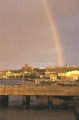 Rainbow Over Newcastle Harbour
